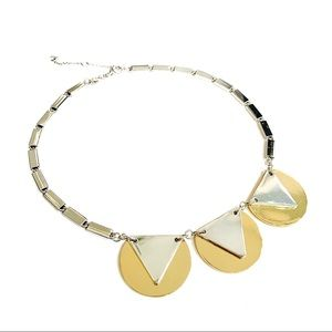 Fossil Gold & Silver Tone Deco Style Necklace